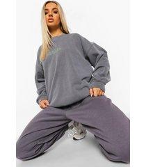 oversized overdye berlin sweater, charcoal