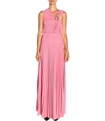 elisabetta franchi dress elisabetta franchi long dress in lurex fabric with star