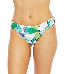 in the moment shirred band bikini bottom