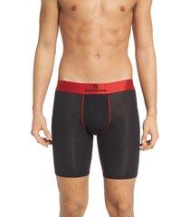 men's tommy john second skin gunmetal waistband boxer briefs, size large - black
