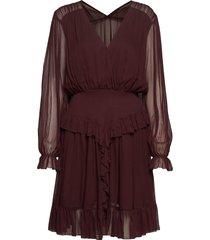 mindy ruffle dress kort klänning röd designers, remix