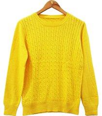 sweater amarillo mecano classic