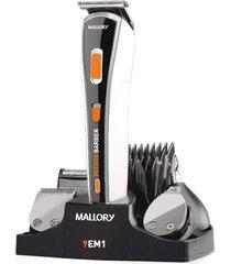 cortador de pelos mallory mithos 9 em 1 preto/branco bivolt