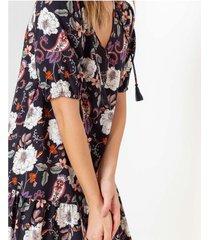 vestido boho estampado floral