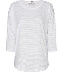 polera estilo blusa mangas 3/4 blanco tommy hilfiger