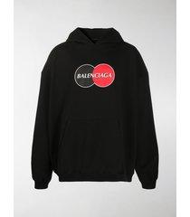 balenciaga uniform oversized hoodie