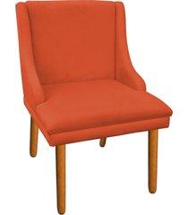 cadeira sala de jantar liz suede laranja - d'rossi