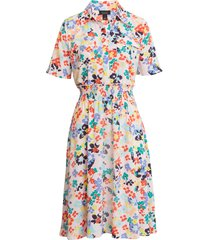 women's halogen x atlantic-pacific floral smocked utility dress, size x-large - pink