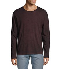 marble-effect stretch-cotton tee