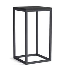 mesa lateral quadrada fortis grafite e preta 65 cm