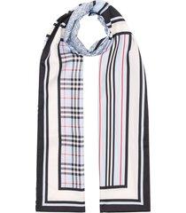 men's burberry three pattern silk scarf