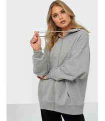 nly trend chunky zip hoodie zip tröjor