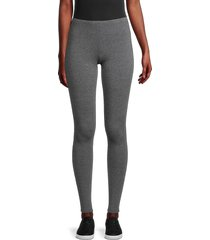splendid women's french terry stretch leggings - charcoal - size xxl