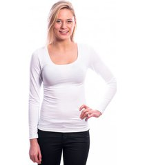 ten cate women longsleeves shirt (30200) white