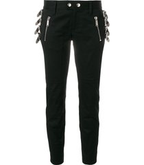 dsquared2 buckle detail trousers - black