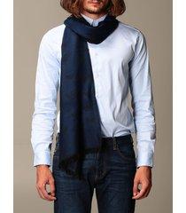 emporio armani scarf emporio armani wool scarf with all over logo