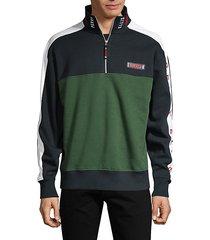 america colorblock cotton-blend fleece sweatshirt