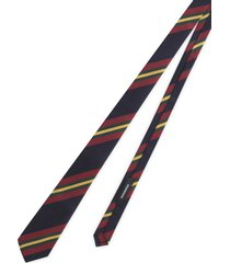 silk jacquard cotton striped tie