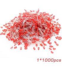 1000 universal pcs/conjunto difuso de 5mm de la lente roja redonda de