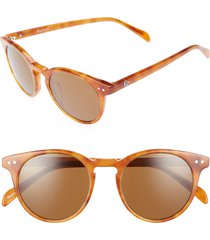 women's brightside oxford 49mm sunglasses - light brown/ brown