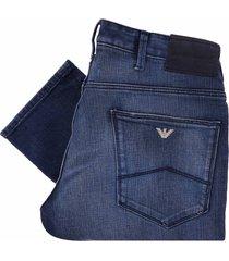 emporio armani j06 comfort denim jeans - dark denim blue 3g1j061d4dz