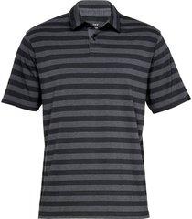 camiseta polo under armour playoff negro gris