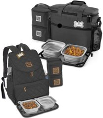 mobile dog gear bundle - weekender away backpack set, 14 piece