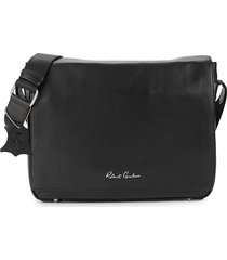 robert graham men's vuillard leather messenger bag - black