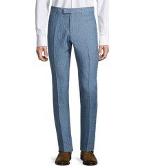 sandro men's linen trousers - blue - size 40