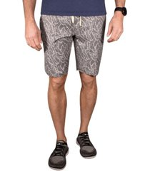 men's tropical camo print hybrid windjammer shorts