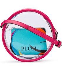 emilio pucci junior bolsa tiracolo redonda - rosa