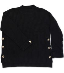 full circle trends trendy plus size button-detail sweater