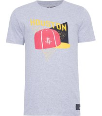 camiseta masculina color block cap houroc - cinza