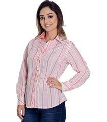 camisa pimenta rosada listrada kayla
