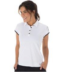 camisa polo adidas club 3s - feminina - branco