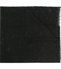 brunello cucinelli fine knit scarf with sequin embellishment - black