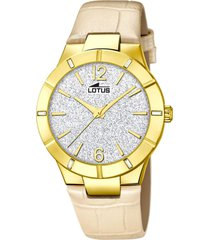 reloj trendy beige lotus