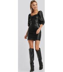 mango mamita pu dress - black