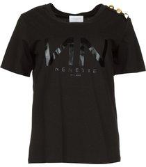 t-shirt met logo print dea  zwart