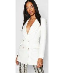 tall button detail tailored blazer, ivory