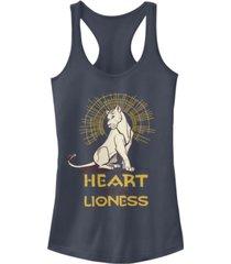 disney juniors' lion king lioness heart ideal racerback tank top