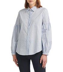 striped stretch-cotton button-down shirt