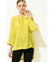 blusa verde gold natalia brisa