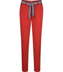 chinos dress in röd