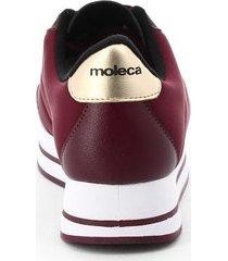 tenis para mujer marca moleca color vinotinto moleca - violeta