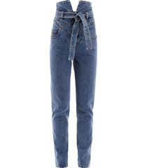 the attico belted jeans
