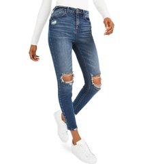 vanilla star juniors' high-rise distressed skinny jeans