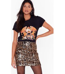 womens all hail the queen graphic tee - black