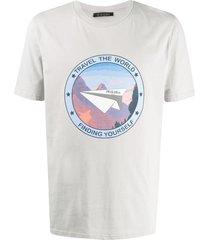 mr & mrs italy travel the world t-shirt - grey