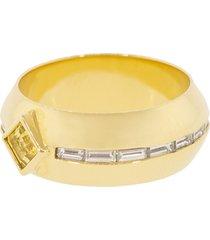 citrine and diamond gypsy ring